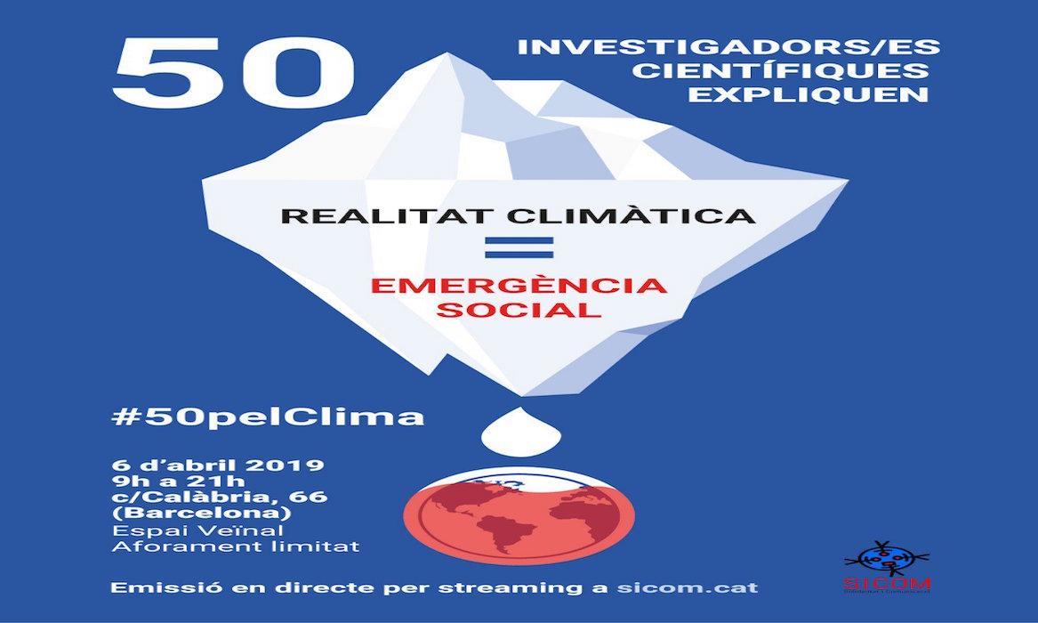 Cartel del evento: Mesa redonda per l'emergencia climática
