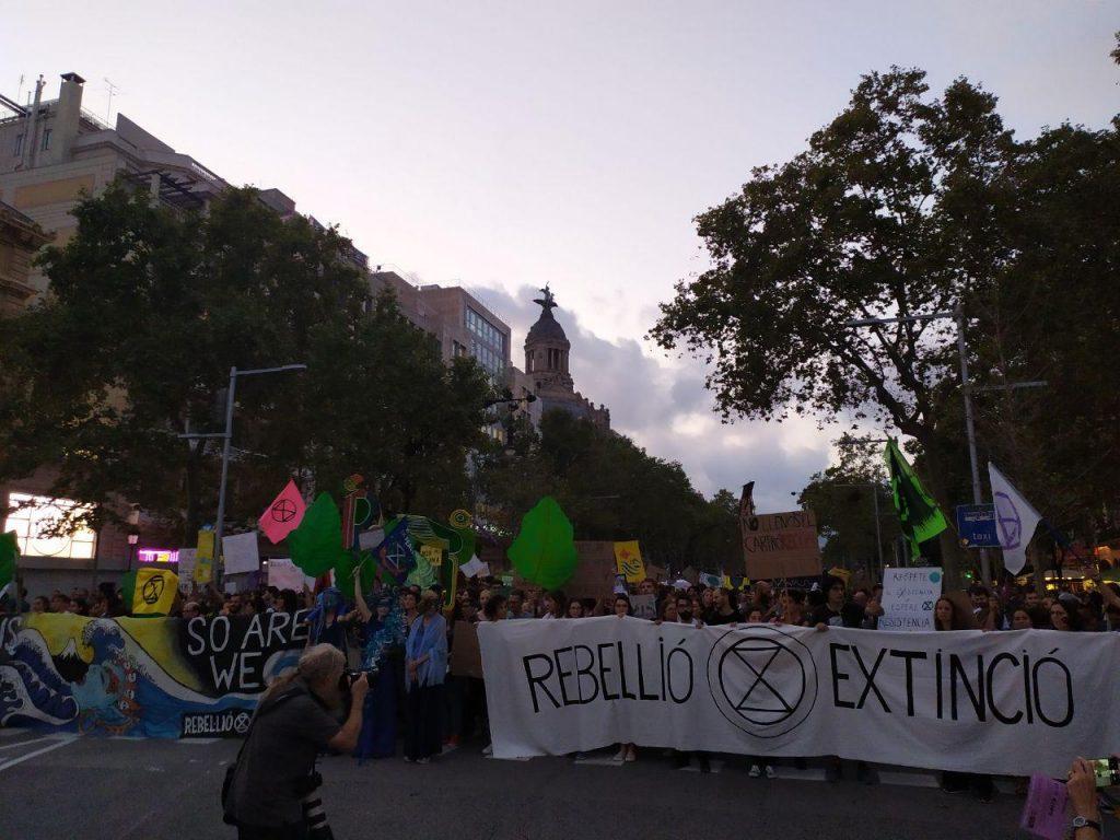 XR Barcelona a la vaga mundial pel clima