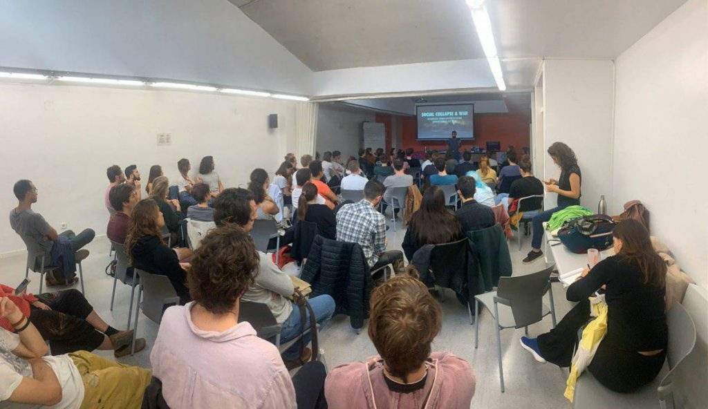 International rebels attend their first XR welcome meeting in Barcelona