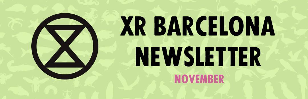 XR Barcelona NewsletterNovember