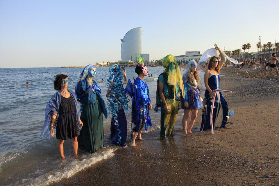 The Rebels of the Blue Brigade  at Barcelona's beach
