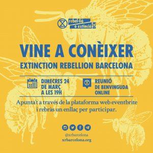 Vine a conèixer Extinction Rebellion Barcelona