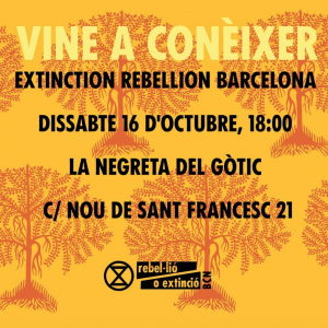 Informative poster in Catalann